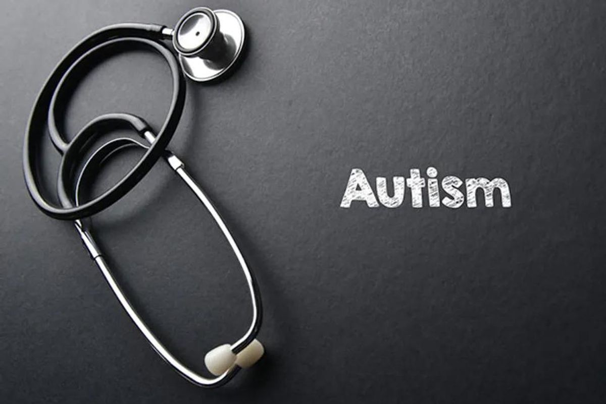 autism text and stethoscope