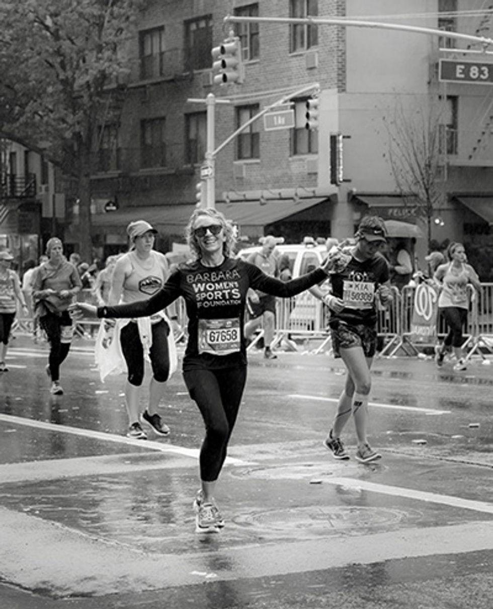 Barbara Hannah Grufferman running