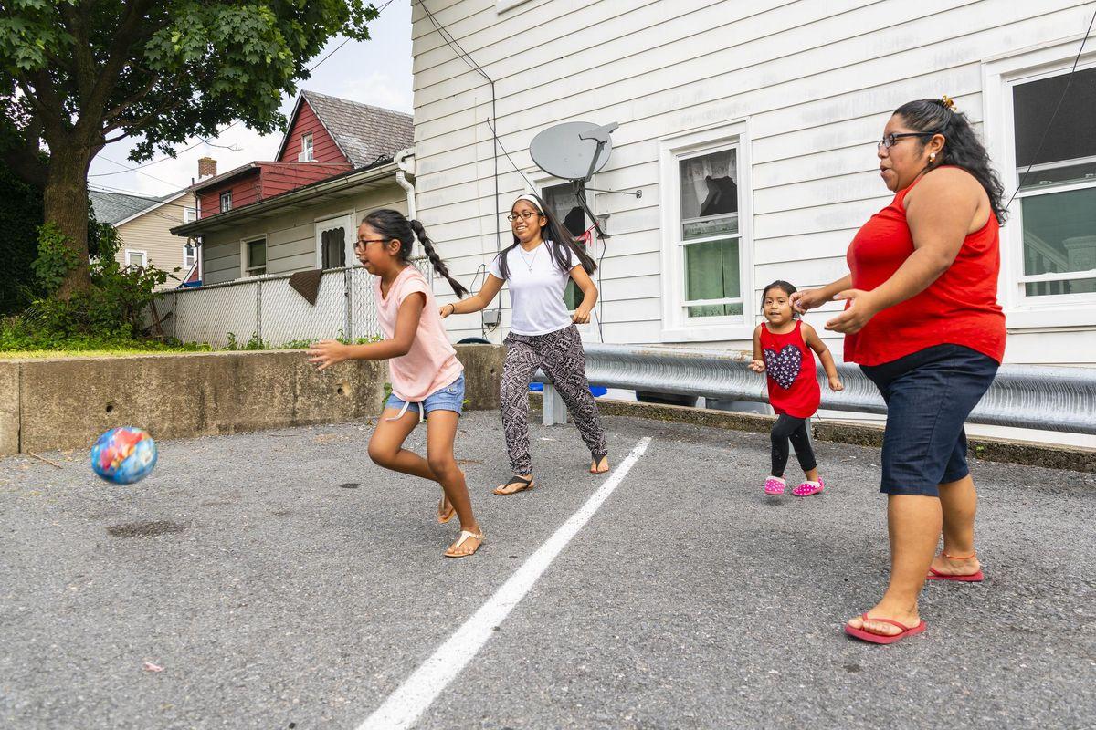 big happy Latino, Mexican-American family