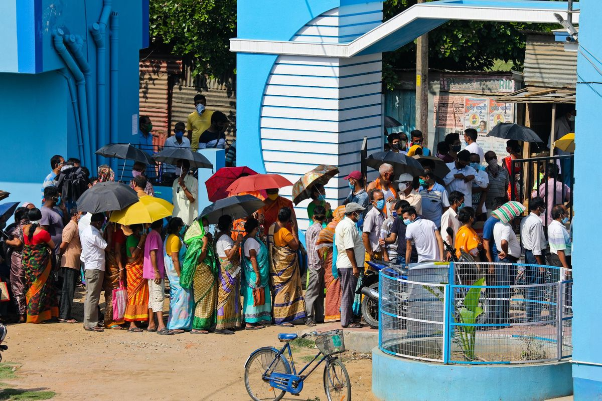 Coronavirus Vaccination Drive in Katwa West Bangal
