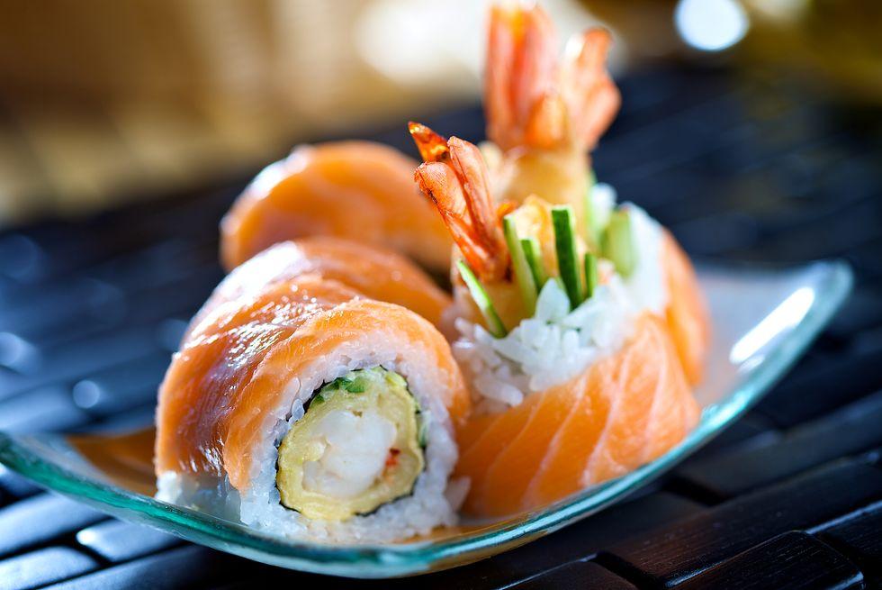 sushi and tapeworm