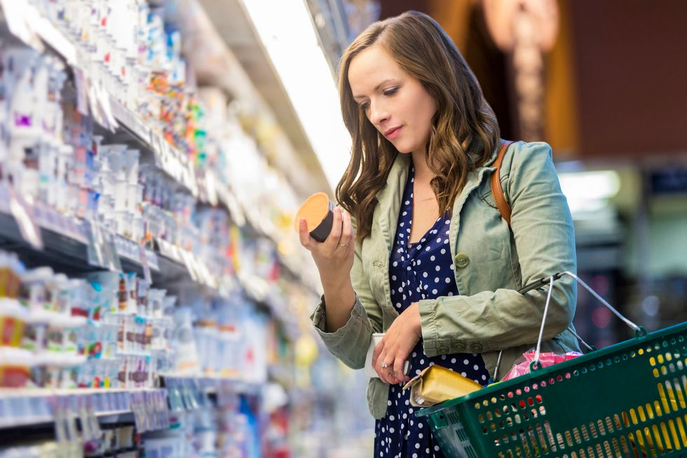 food labels marked healthy