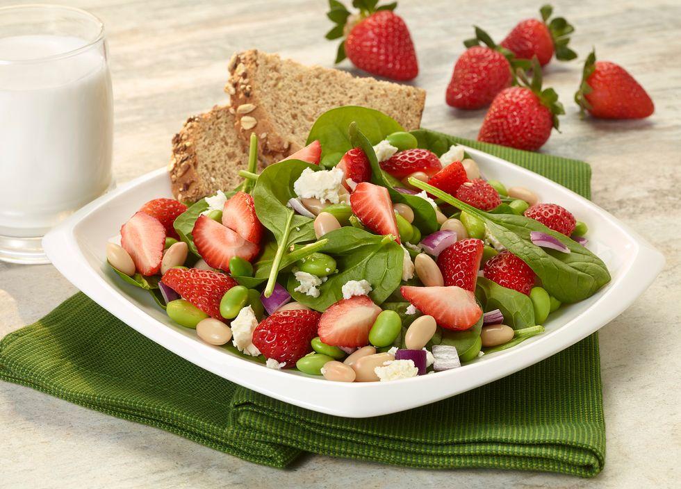 strawberry edamame salad