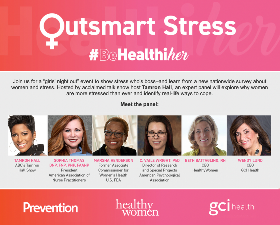 HealthyWomen, along with its partners, Prevention Magazine and GCI Health, Host Outsmart Stress Panel
