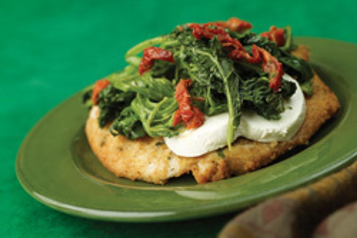 Chicken Cutlets With Broccoli Rabe & Mozzarella