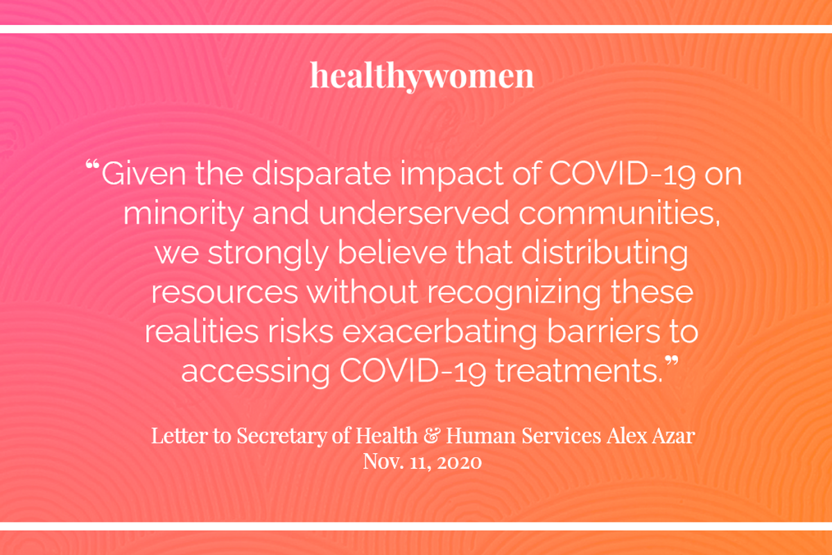HealthyWomen Joins National Health Organizations in Letter to HHS Secretary Alex Azar About Access to COVID-19 Treatment