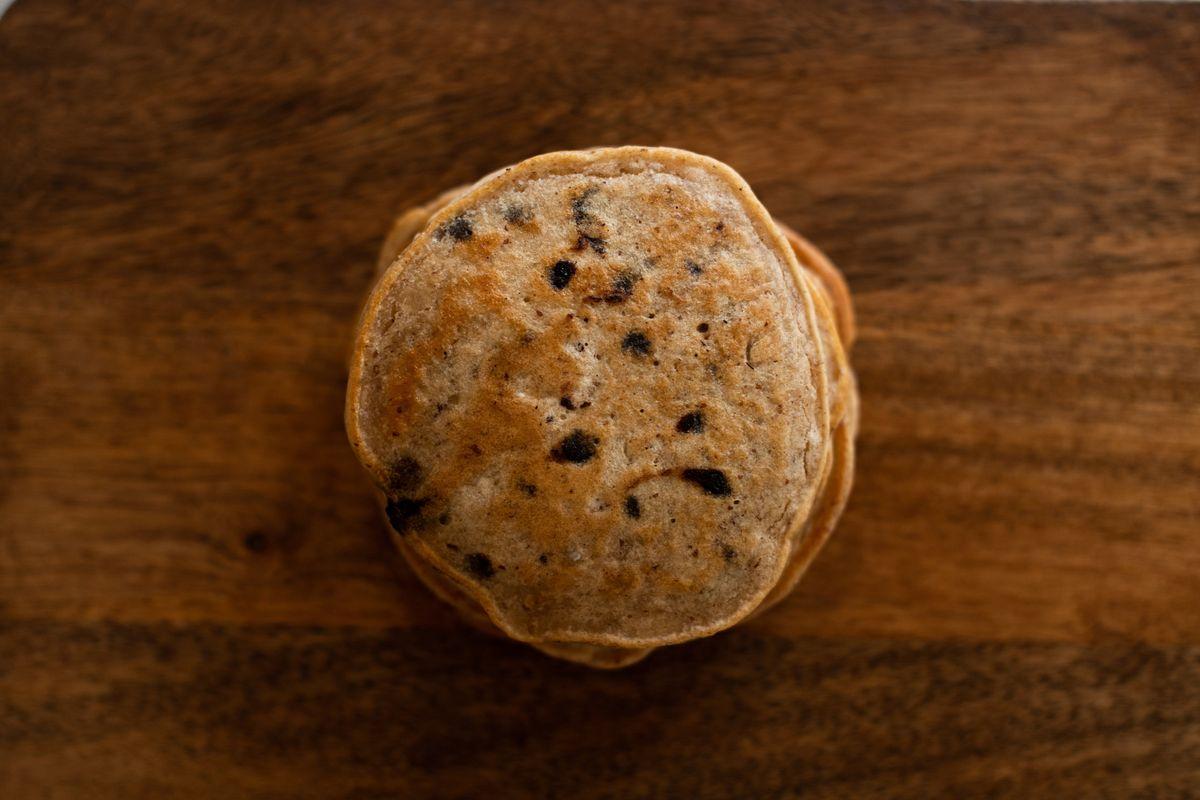 Oatmeal Carob Chip Pancakes