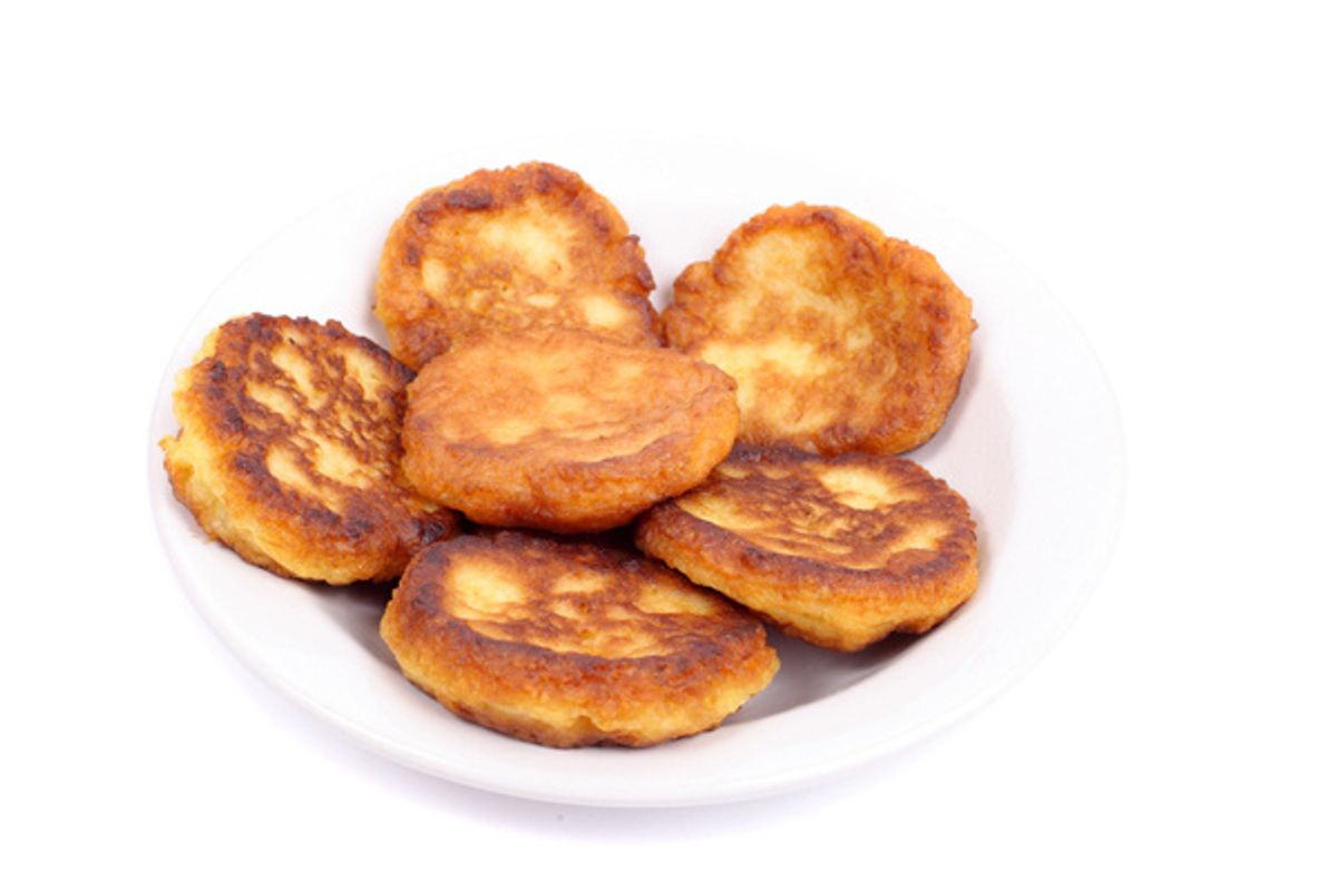 Sweet Potato Pancakes with Balsamic Maple Mushrooms