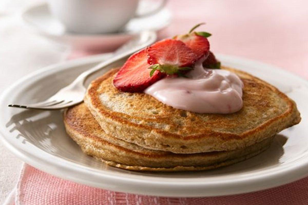 Whole-Grain Strawberry Pancakes