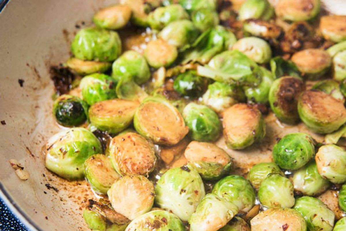 Blistering Brussels Sprouts