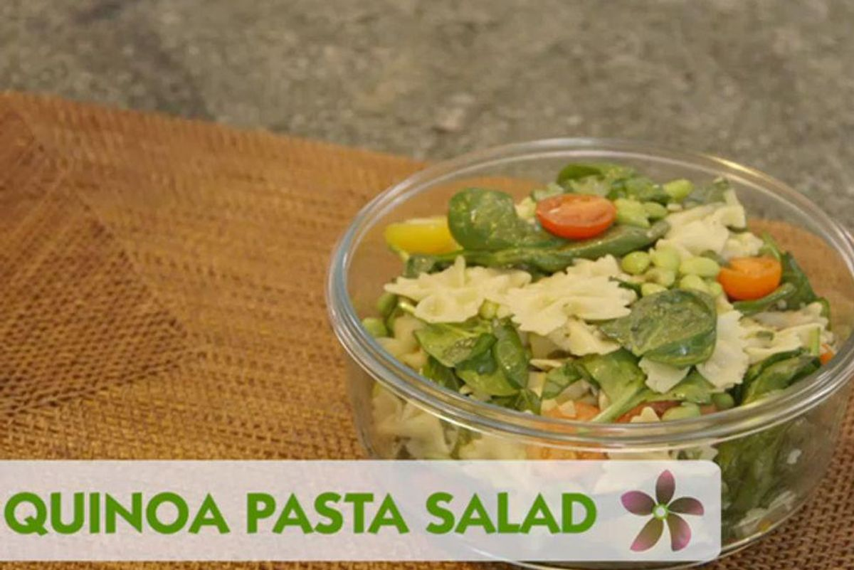 Cooking for Someone Battling Breast Cancer: Quinoa Pasta Salad
