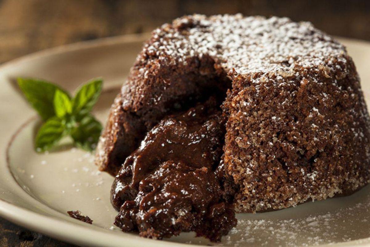Ricotta and Quinoa Chocolate Lava Cake