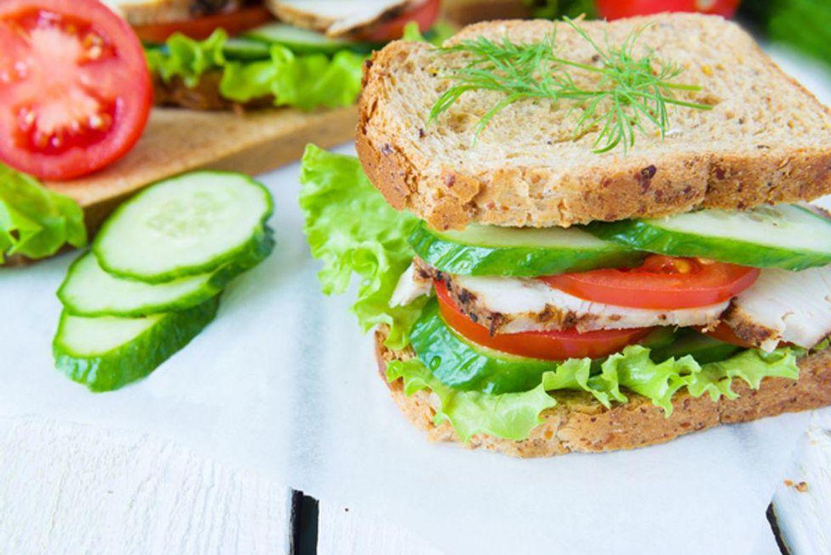 Turkey and Cucumber Sandwich