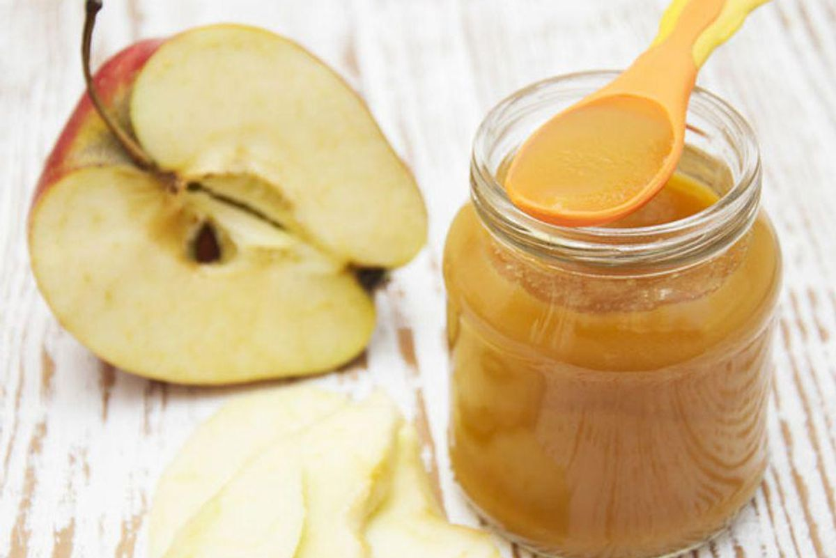 Apple and Oat Puree Baby Food