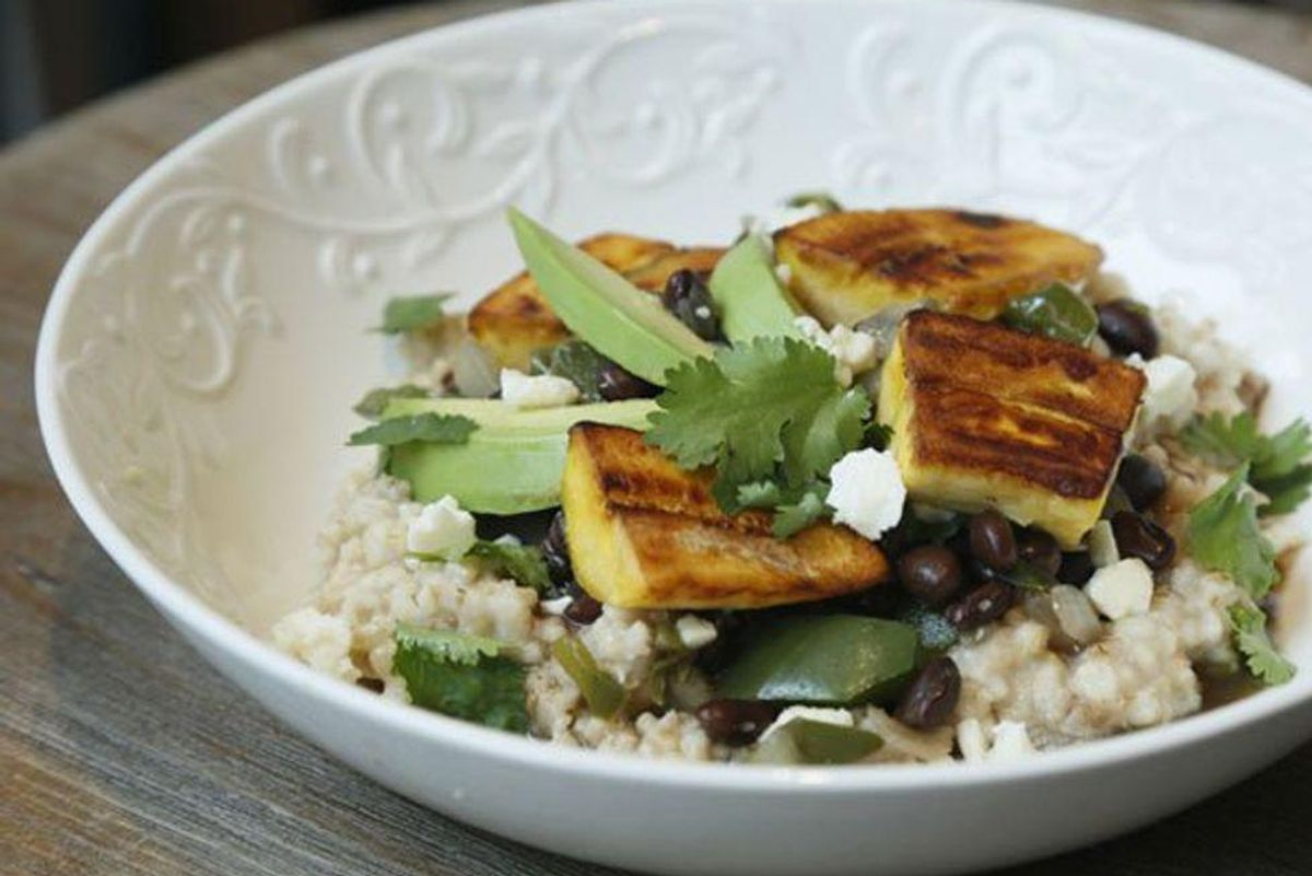 Cuban-Style Black Beans & Plantains Over Oatmeal