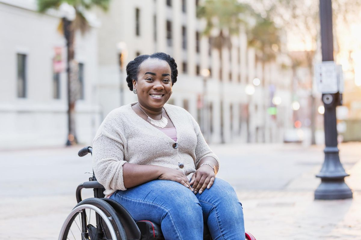 African-American woman with spina bifida