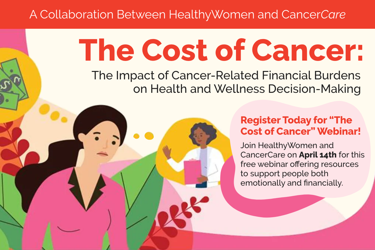 infographic of a women and her doctor talking about cancer cost