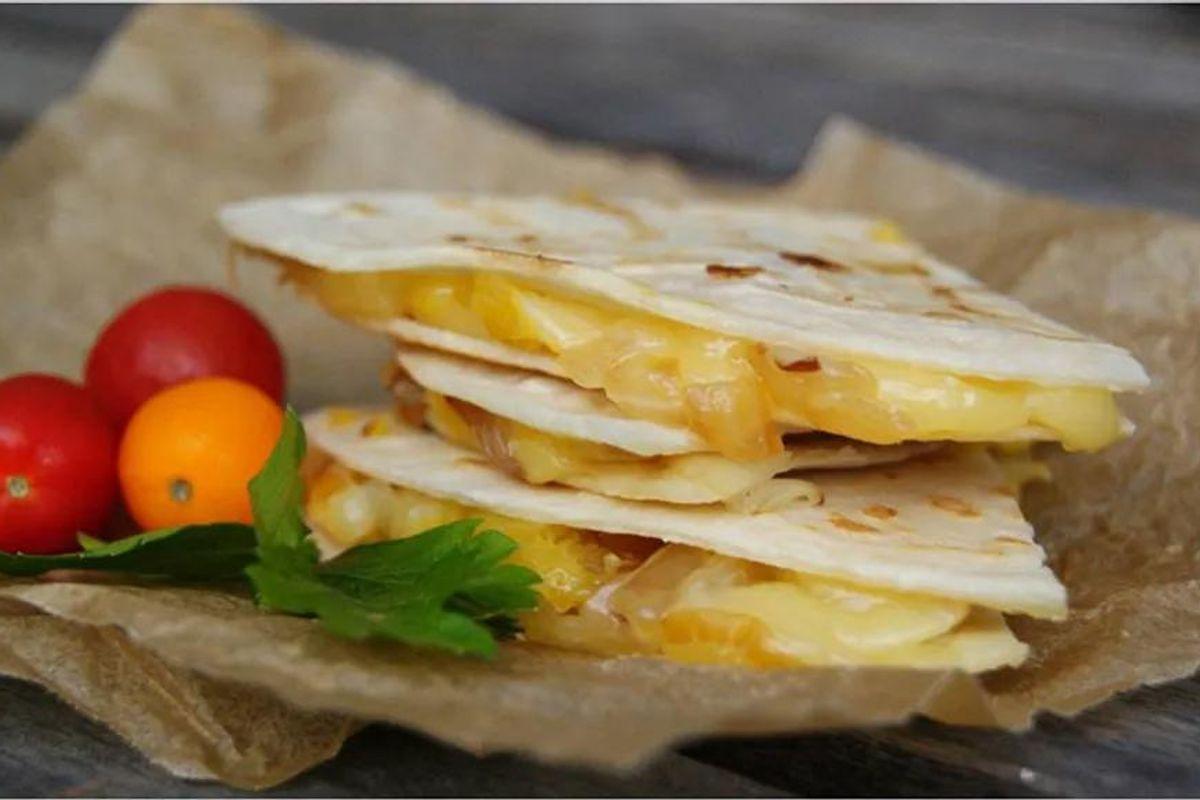 Gluten-Free Squash & Caramelized Onion Quesadilla