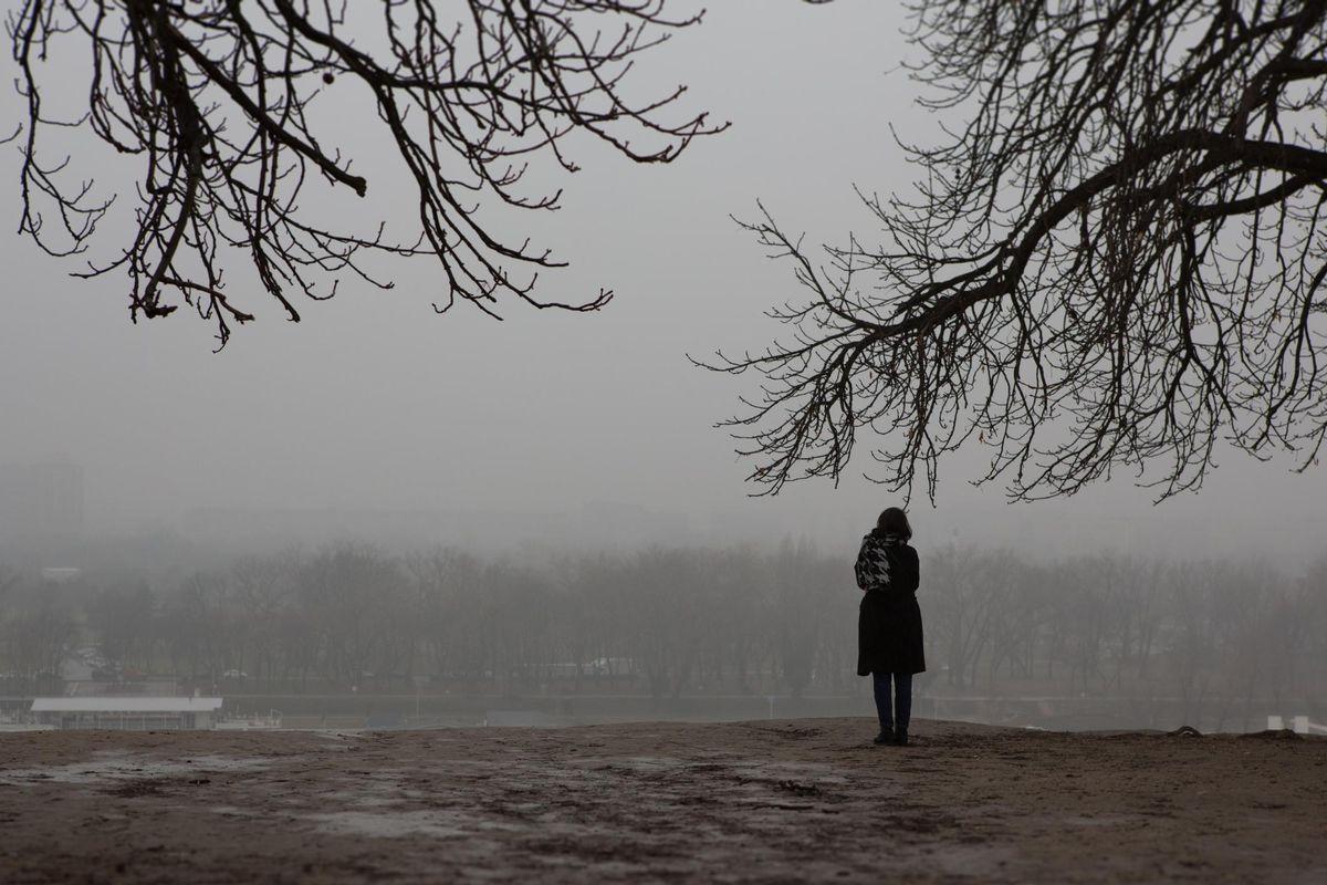 Girl, alone.