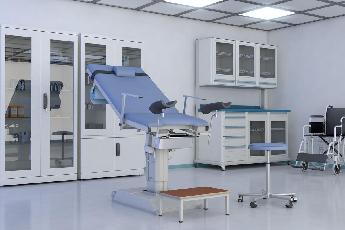 Gynecological Examination Room In Hospital