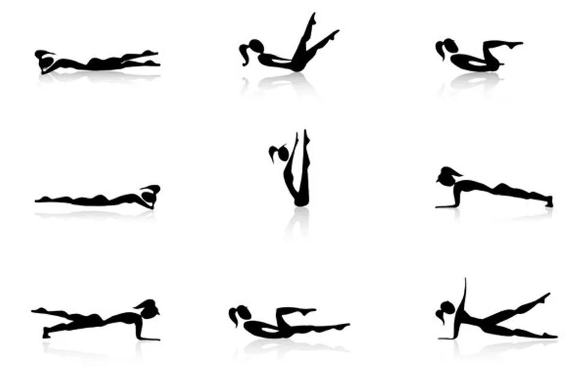 person doing core exercises