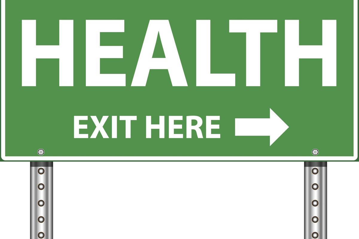 Road Exit Sign