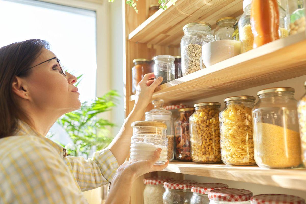Food storage in pantry