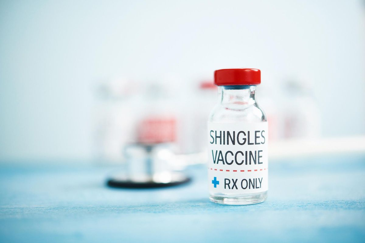Medical Vial with Shingles Vaccine