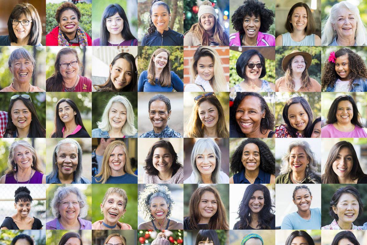 Faces of Women stock photo