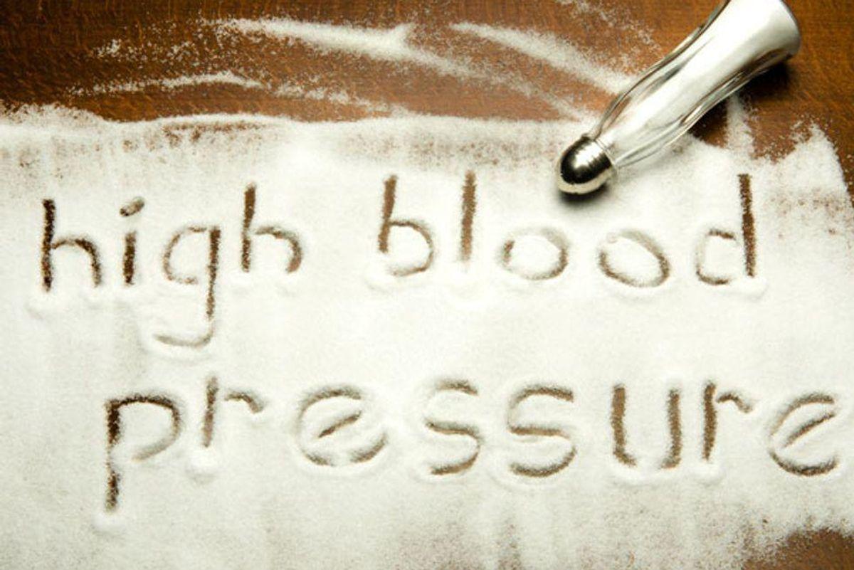 high blood pressure words in salt