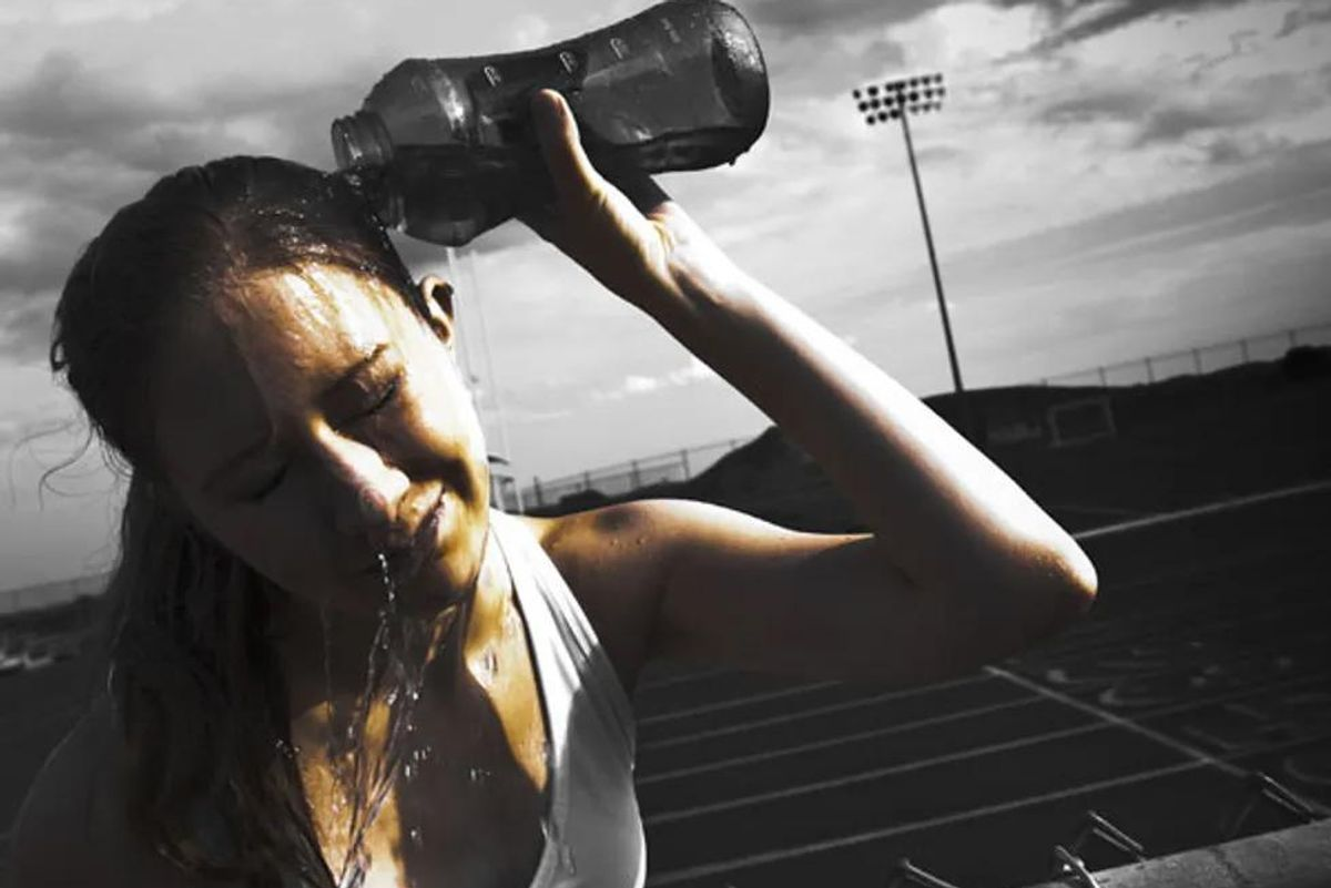 hyponatremia, drinking too much water