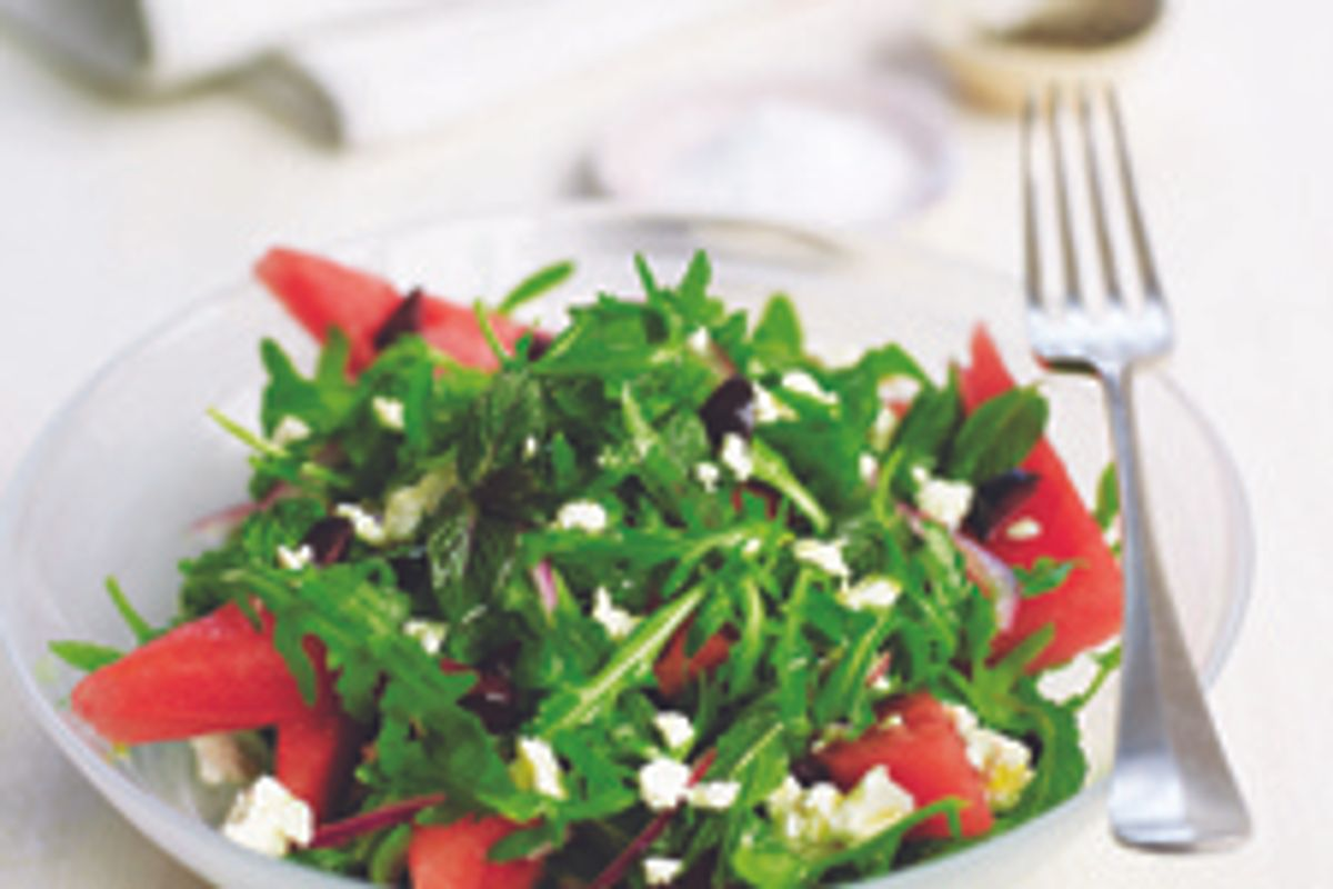 Watermelon, Arugula, Feta, and Mint Salad
