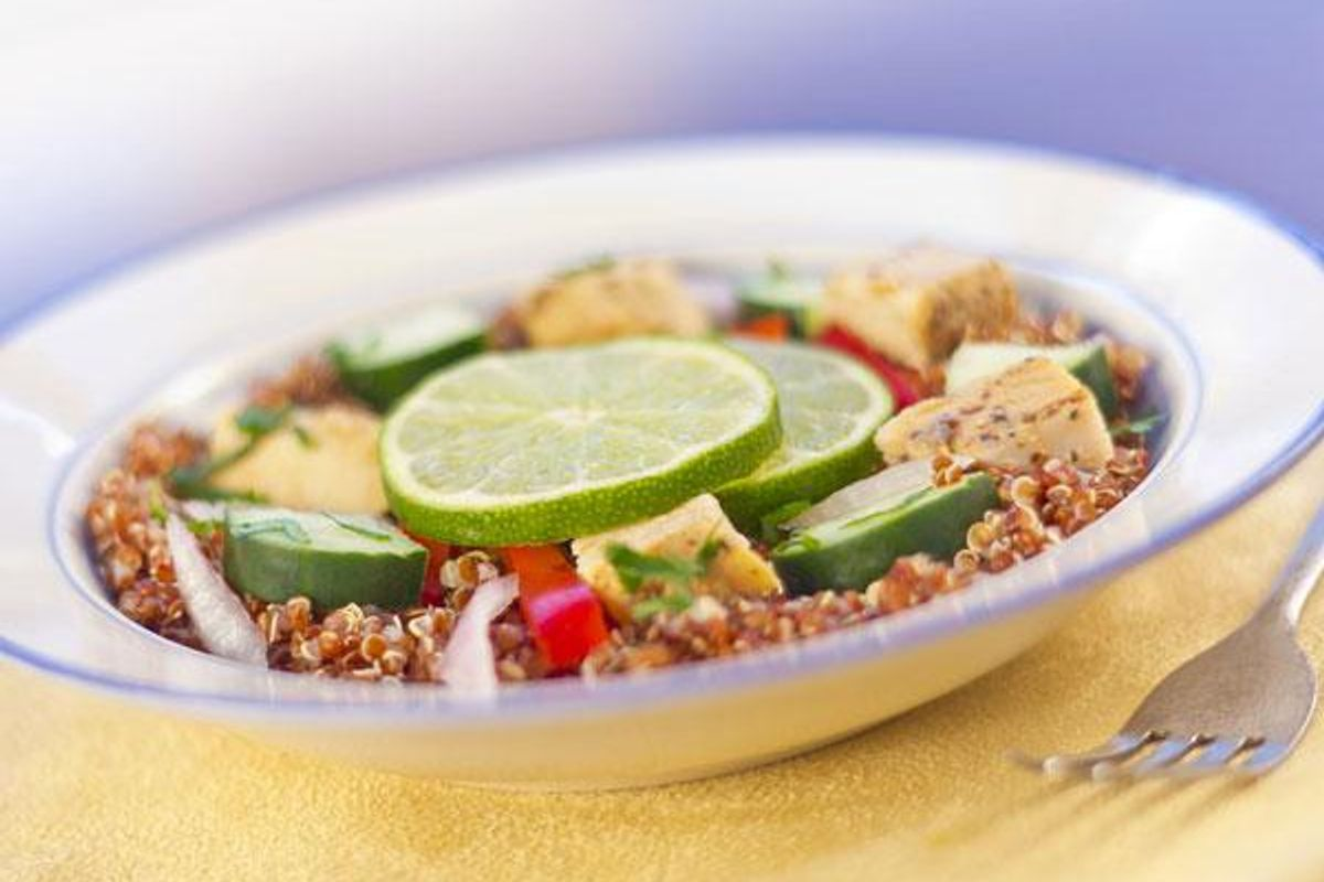 Grilled Chicken and Avocado Quinoa Pilaf