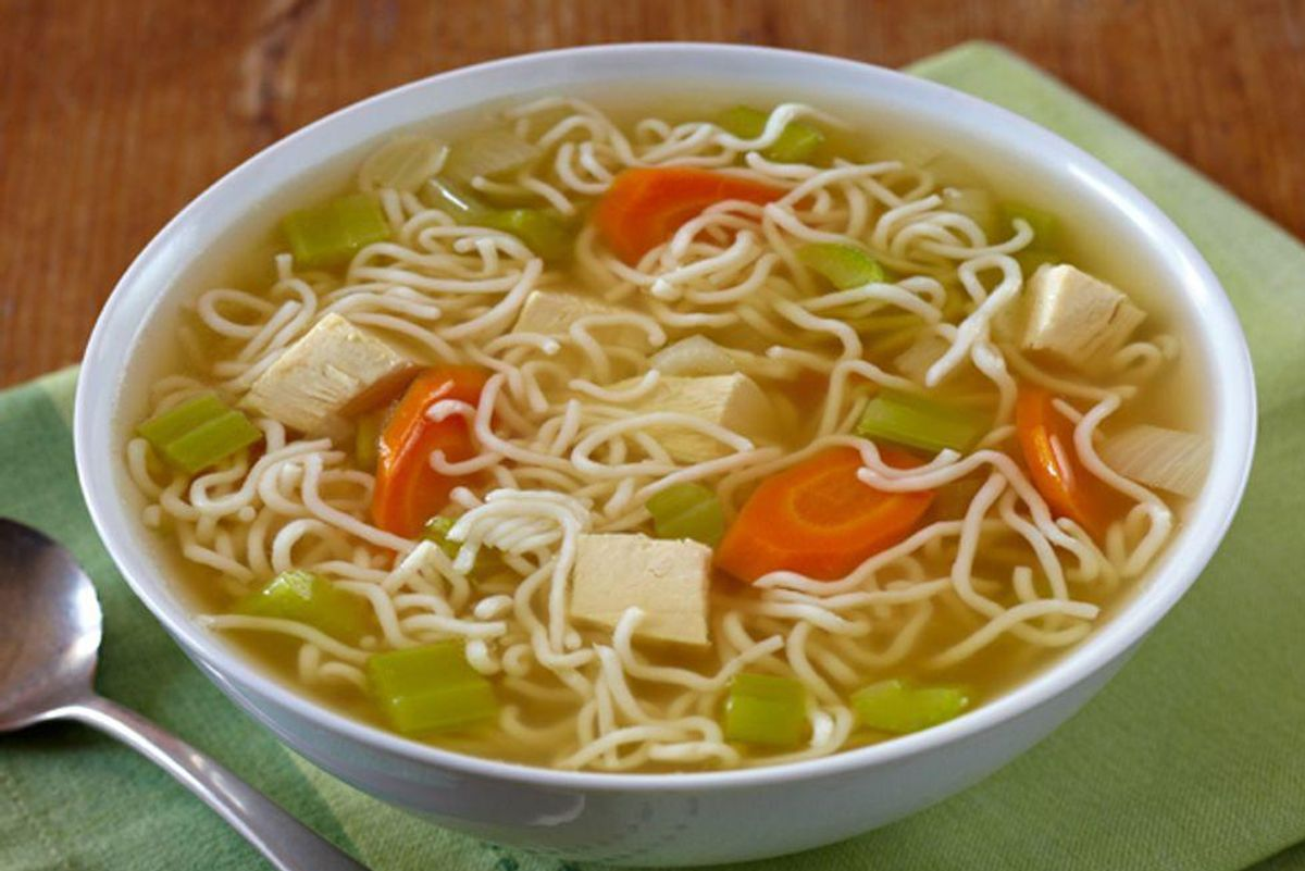 Hearty Chicken Soup With Tofu Shirataki