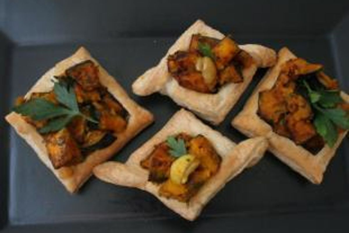 Butternut Squash, Chestnut and Herb-Filled Puff Pastry Hors d'oeuvres