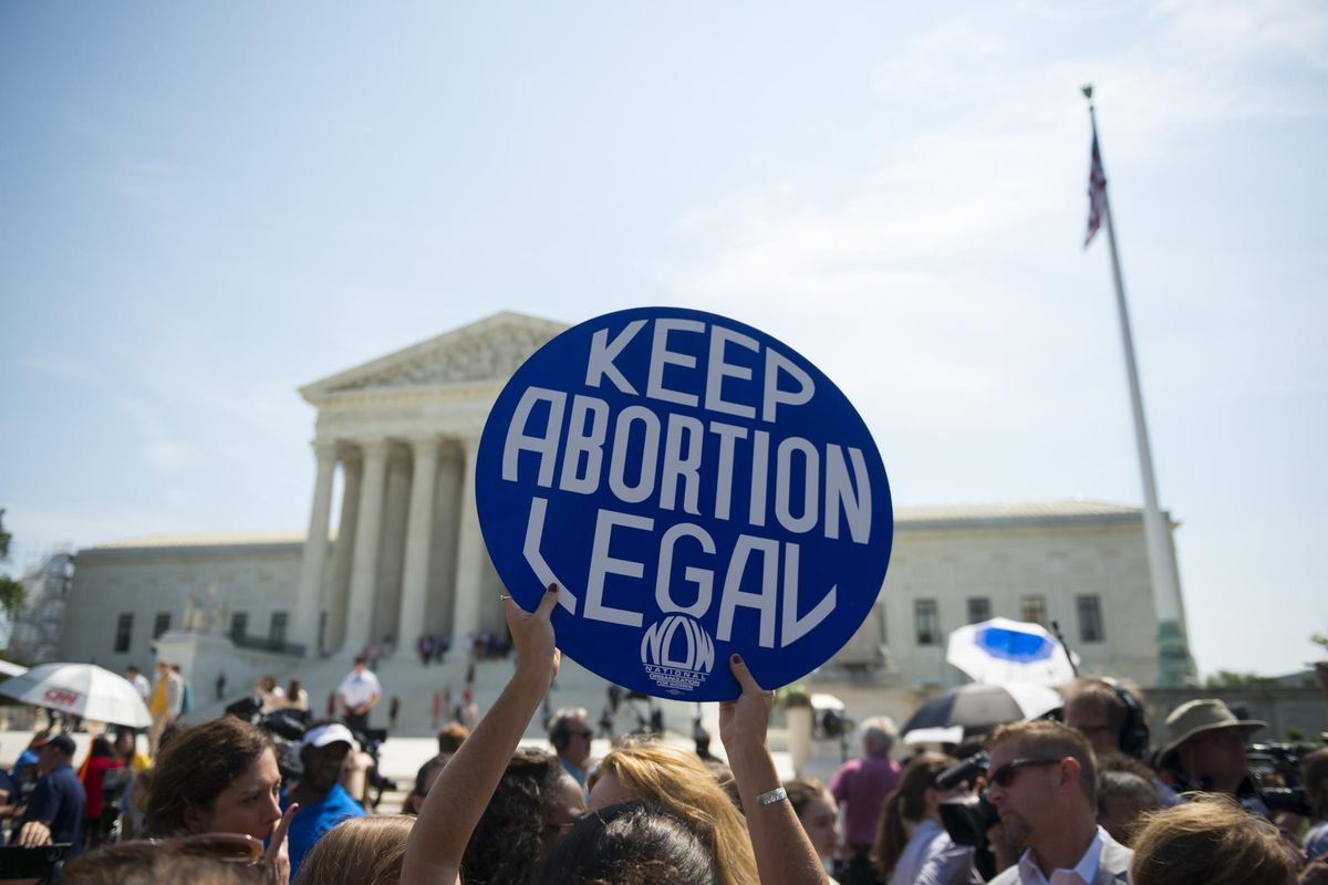 Keep abortion legal sign at Supreme Court