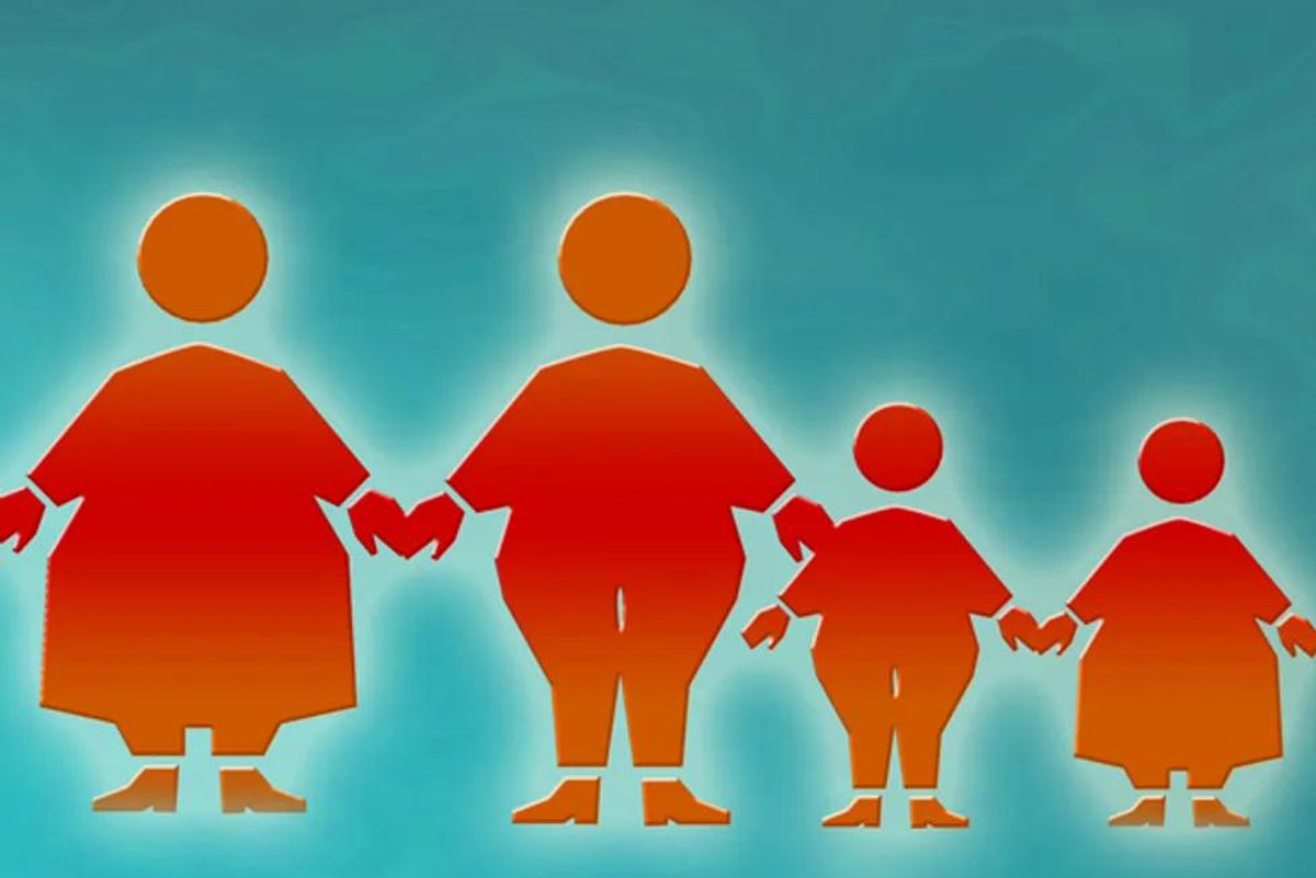 obese family
