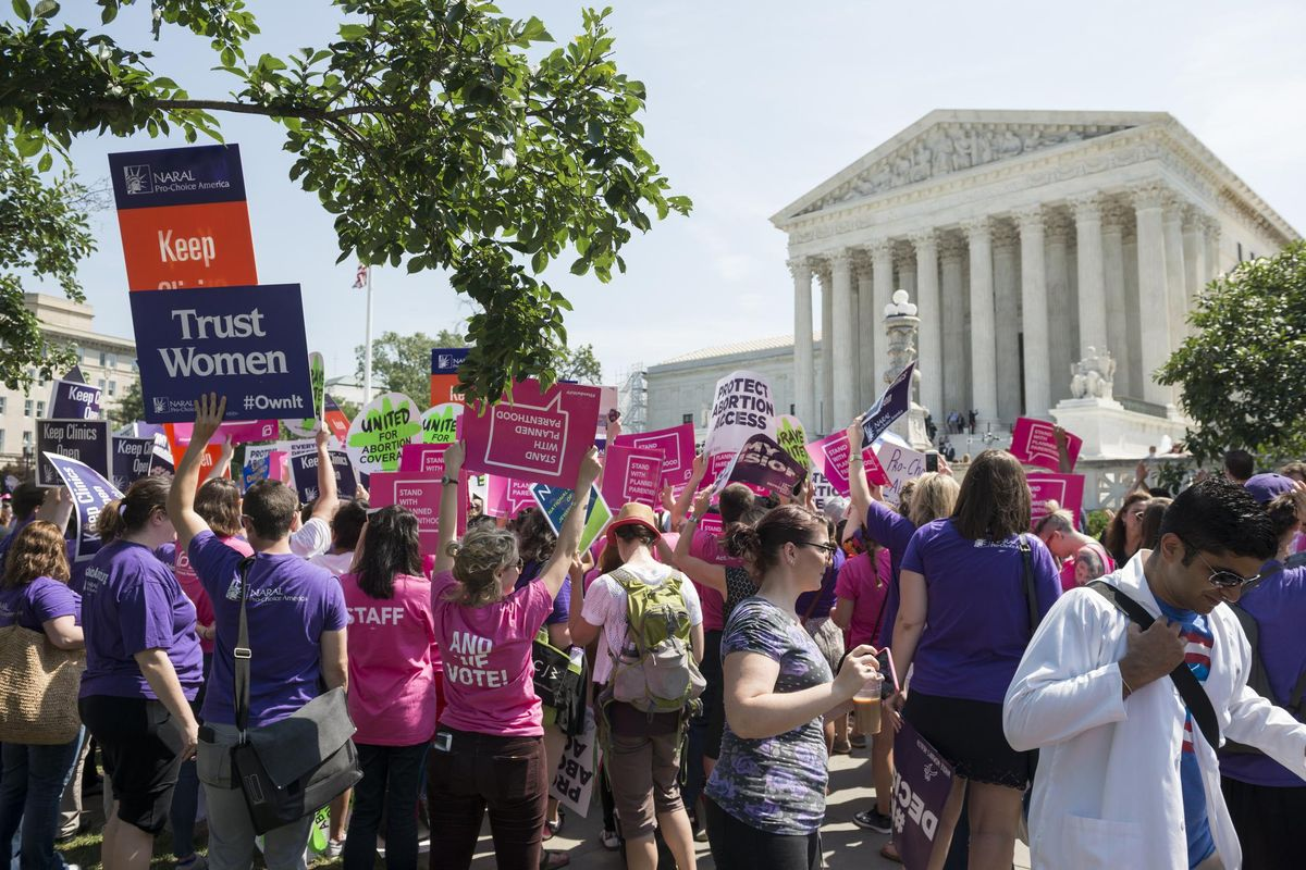 Pro-choice supporters at U.S. Supreme Court