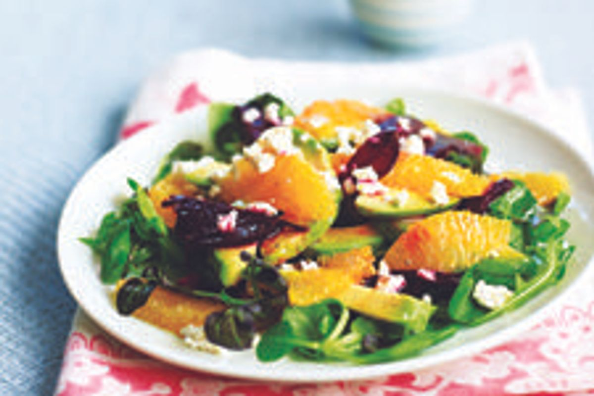 Roasted Beet, Orange, and Avocado Salad