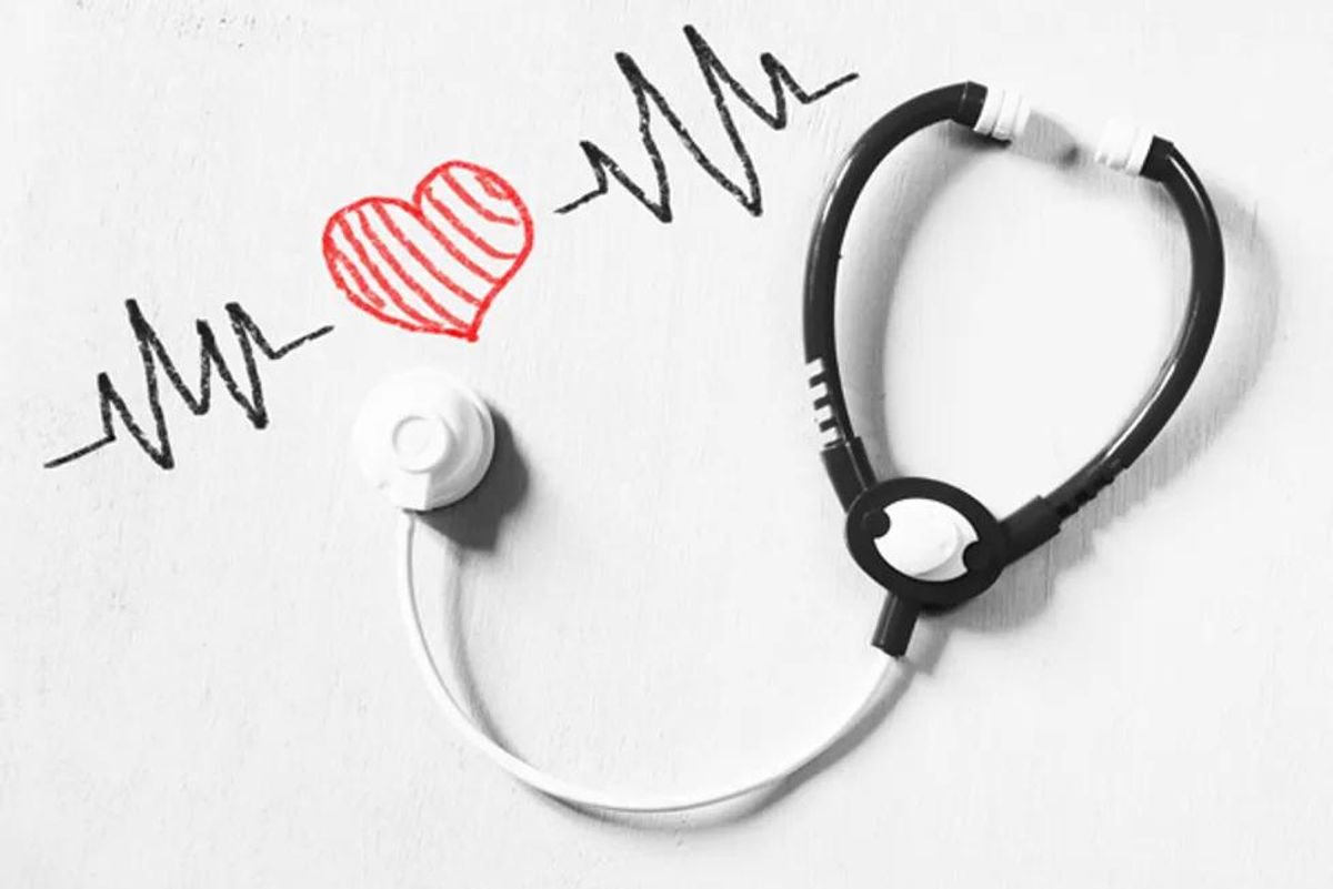 stethoscope and picture of a heart