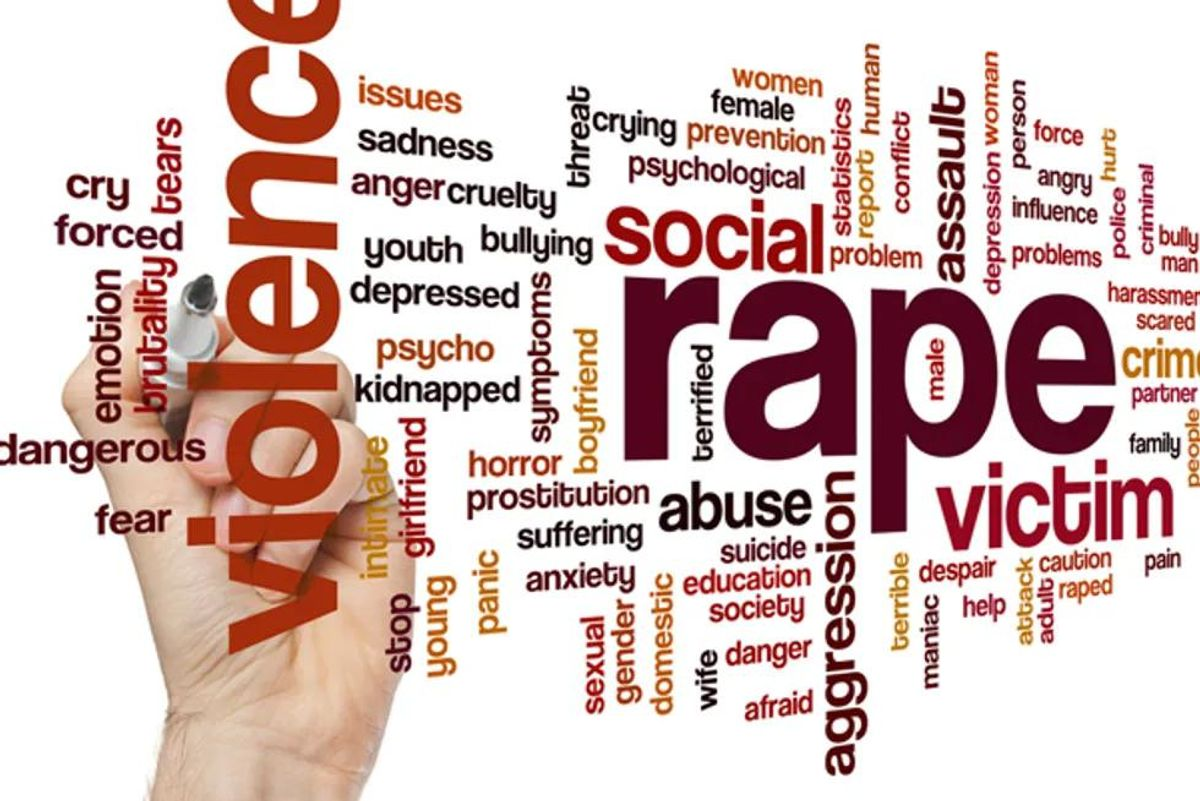 text of words related to rape