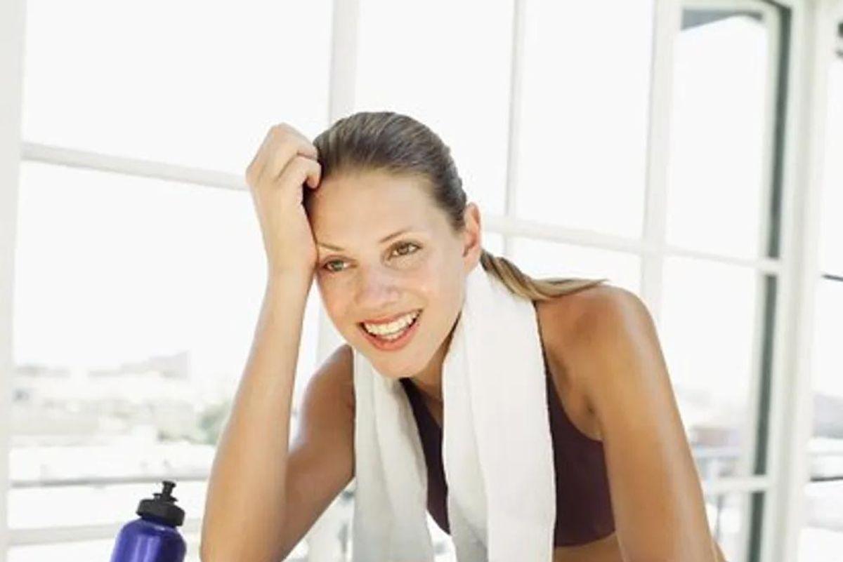 woman on the treadmill